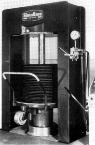 Cerco pressa tradizionale, tipo PIERALISI 400mm con pompa Simplex accoppiata