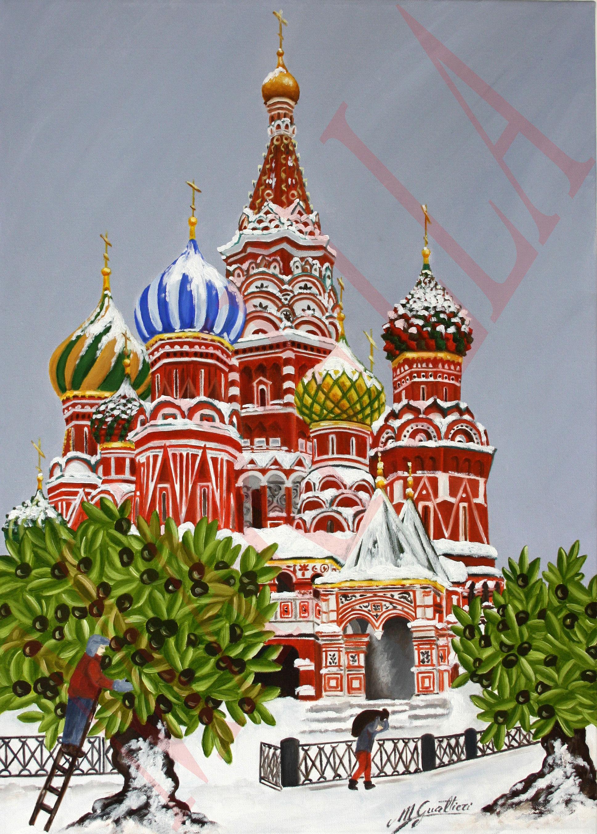 Moscow raccolta olive a mosca