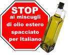 stop olio di oliva non italiano