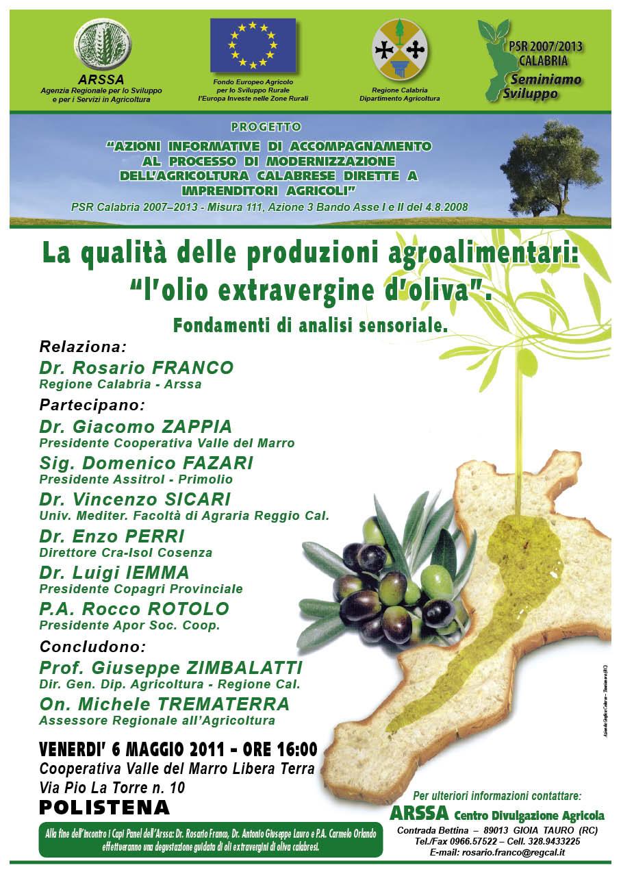 La qualità delle produzioni agroalimentari – La qualità dell'olio extravergine d'oliva