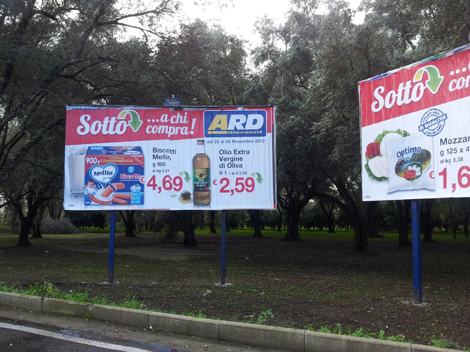 2,59 euro per 1 litro di olio extra vergine di oliva, venduto in una delle zone storiche di produzione.