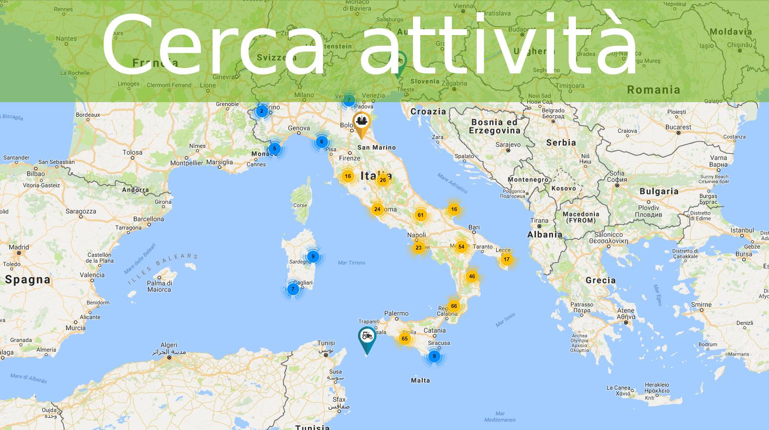 Mappa cerca attività olearie