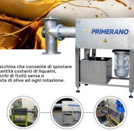 Pompa a pistoni per sansa e pasta di olive – Primerano