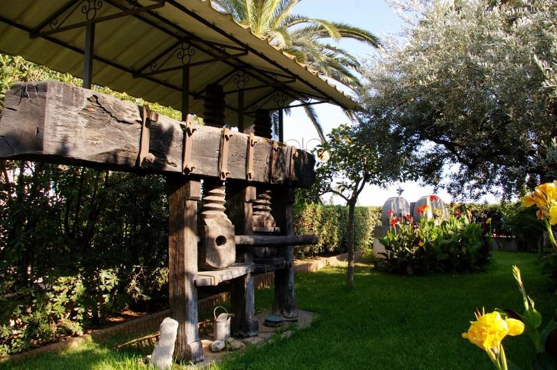 antica-pressa-con-doppio-torchio-in-legno