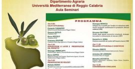 """Seminario """"Modelli sostenibili e nuove tecnologie per la valorizzazione delle olive e dell'olio extravergine di oliva prodotto in Calabria"""""""